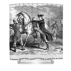 Marquis De Lafayette Shower Curtain by Granger
