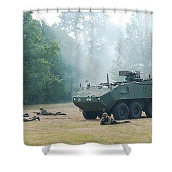 A Belgian Army Piranha IIic With The Fn Shower Curtain by Luc De Jaeger