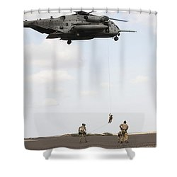 Air Force Pararescuemen Conduct Shower Curtain by Stocktrek Images
