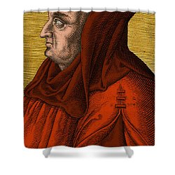 Albertus Magnus, Medieval Philosopher Shower Curtain by Science Source