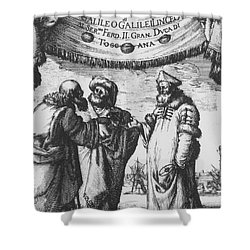 Aristotle, Ptolemy And Copernicus Shower Curtain by Science Source