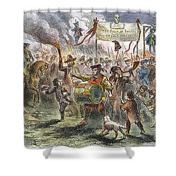 Boston: Stamp Act Riot, 1765 Shower Curtain by Granger