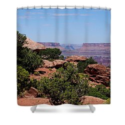 By The Canyon Shower Curtain by Dany Lison