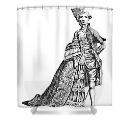 Charles Deon De Beaumont Shower Curtain by Granger