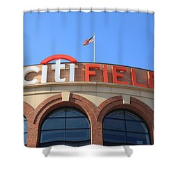 Citi Field - New York Mets Shower Curtain by Frank Romeo