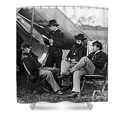 Civil War: Union Officers Shower Curtain by Granger