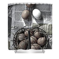 Eggs Shower Curtain by Joana Kruse