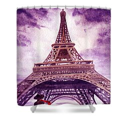 Eiffel Tower Paris Shower Curtain by Irina Sztukowski