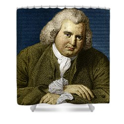 Erasmus Darwin, English Polymath Shower Curtain by Science Source
