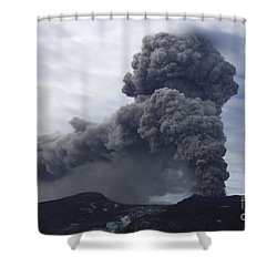Eyjafjallajökull Eruption, Iceland Shower Curtain by Martin Rietze