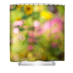 Flower Garden In Sunshine Shower Curtain by Elena Elisseeva