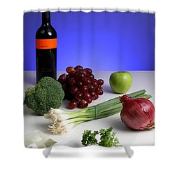 Foods Rich In Quercetin Shower Curtain by Photo Researchers, Inc.
