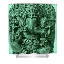 Ganesha, Hindu God Shower Curtain by Photo Researchers