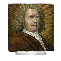 Herman Boerhaave, Dutch Physician Shower Curtain by Science Source