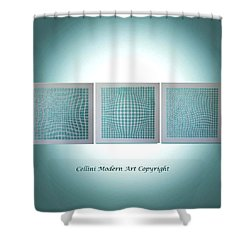 Shower Curtain featuring the painting 3 Illusions by Dolores  Deal