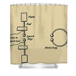 Illustration Of Hertzs Oscillator Shower Curtain by Science Source