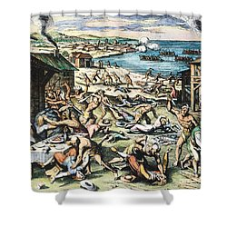 Jamestown: Massacre, 1622 Shower Curtain by Granger
