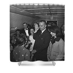 Lyndon Baines Johnson Shower Curtain by Granger