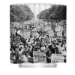 March On Washington. 1963 Shower Curtain by Granger