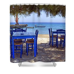 Naxos - Cyclades - Greece Shower Curtain by Joana Kruse