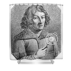 Nicolaus Copernicus, Polish Astronomer Shower Curtain by Omikron