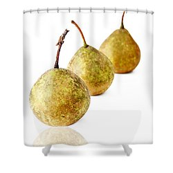 3 Pears Shower Curtain by Darren Fisher