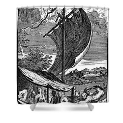 Pope: Rape Of The Lock Shower Curtain by Granger