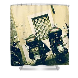Scooter Shower Curtain by Joana Kruse