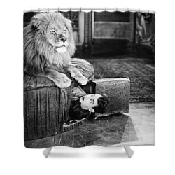 Silent Still: Man In Distress Shower Curtain by Granger