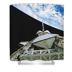 Space Shuttle Endeavour Shower Curtain by Science Source