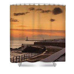 Sunderland, Tyne And Wear, England A Shower Curtain by John Short