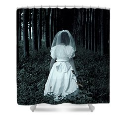 The Bride Shower Curtain by Joana Kruse