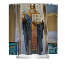 The Holy Trinity Cathedral Shower Curtain by Chris Sommers