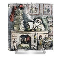 Thomas Nast: Santa Claus Shower Curtain by Granger