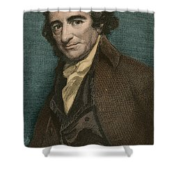 Thomas Paine, American Patriot Shower Curtain by Photo Researchers