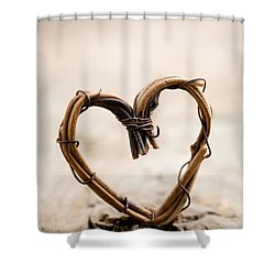 Valentine Heart Shower Curtain