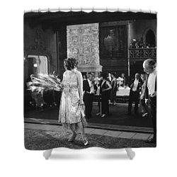 Silent Still: Man & Woman Shower Curtain by Granger