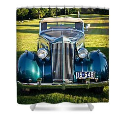 Shower Curtain featuring the photograph '35 Packard by Ronda Broatch