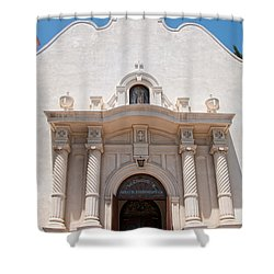 Old Town San Diego Shower Curtain by Carol Ailles