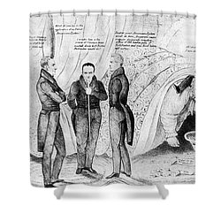 Andrew Jackson Cartoon Shower Curtain by Granger
