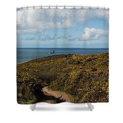 Cornish Seascape St Agnes  Shower Curtain by Brian Roscorla