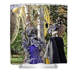 Fall  Halloween On Tillson Street Shower Curtain by LeeAnn McLaneGoetz McLaneGoetzStudioLLCcom