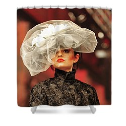 Fat Fashion Art Toronto Shower Curtain by Andrea Kollo