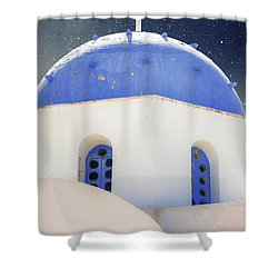 Greek Chapel Shower Curtain by Joana Kruse