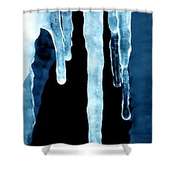 Ice Particles Shower Curtain by Colette V Hera  Guggenheim