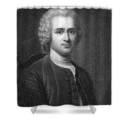 Jean Jacques Rousseau Shower Curtain by Granger
