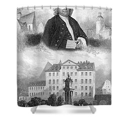 Johann Sebastian Bach Shower Curtain by Granger