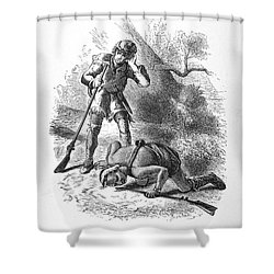 Last Of The Mohicans, 1872 Shower Curtain by Granger