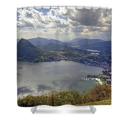 Lugano Shower Curtain by Joana Kruse