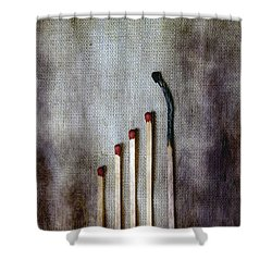 Matches Shower Curtain by Joana Kruse
